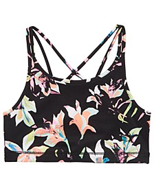 Big Girls Printed Strappy Sports Bra, Created for Macy's