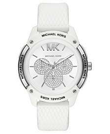 Women's Ryder White Silicone Strap Watch 44mm
