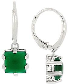 Giani Bernini Green Agate Drop Earrings in Sterling Silver, Created for Macy's