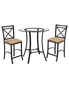 Latrobe 3-Piece Counter Height Dining Set