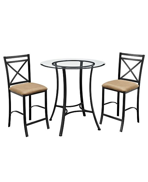 Dorel Living Latrobe 3-Piece Counter Height Dining Set
