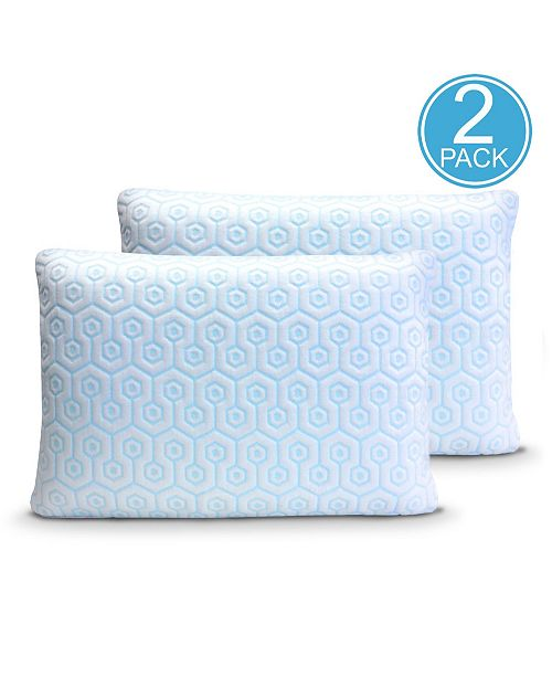 Rio Home Fashions Hydrologie 2 Pack Cooling Pillow Zipper Covers Collection