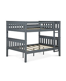 Dorel Living Hurley Full Over Full Bunk Bed with USB Port