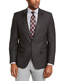 Men's Modern-Fit Charcoal/White Dinner Jacket, Created for Macy's