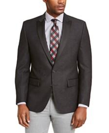 Ryan Seacrest Distinction™ Men's Modern-Fit Charcoal/White Dinner Jacket, Created for Macy's