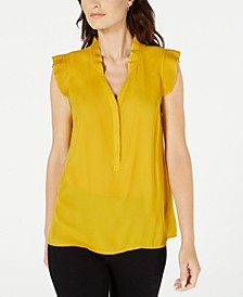 Pleated Flutter-Trim Top, Created for Macy's
