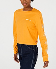 Cotton Long-Sleeve Logo-Detail T-Shirt