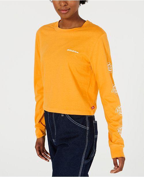 Dickies Cotton Long-Sleeve Logo-Detail T-Shirt