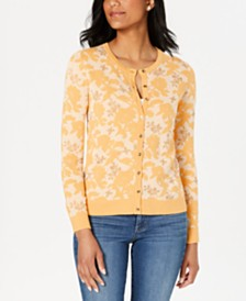 Charter Club Jacquard Print Cardigan, Created for Macy's