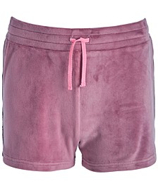 Big Girls Side-Taped Velour Shorts, Created for Macy's