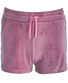 Ideology Big Girls Side-Taped Velour Shorts, Created for Macy's