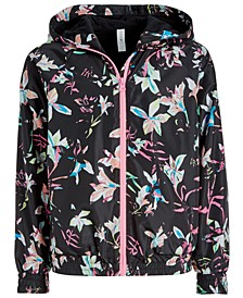 Big Girls Floral-Print Hooded Windbreaker Jacket, Created for Macy's