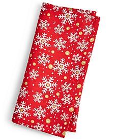 Snowflake Print Napkin