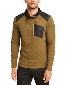I.N.C. Men's Long-Sleeve Cowl Neck T-Shirt, Created for Macy's