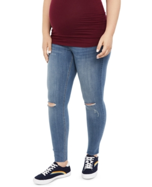 Motherhood Maternity Indigo Blue Maternity Skinny Jeans