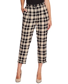 Vince Camuto Cropped Plaid Pants