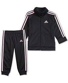 Little Girls 2-Pc. Classic Tricot Jacket & Pants Set