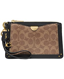 Coated Canvas Signature Dreamer Wristlet