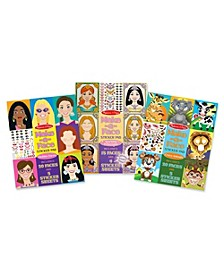Make-a-Face Sticker Bundle - Princesses, Fashion and Crazy Animals