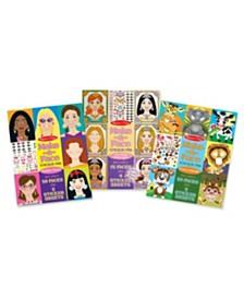 Melissa and Doug Make-a-Face Sticker Bundle - Princesses, Fashion and Crazy Animals