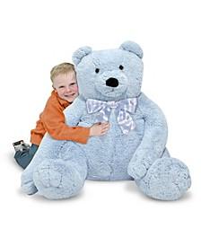 Jumbo Blue Teddy Bear