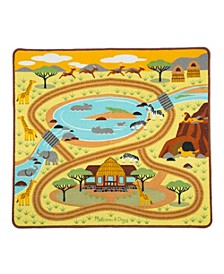 Round the Savanna Safari Rug Playmat