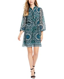 Vince Camuto Printed Chiffon Dress