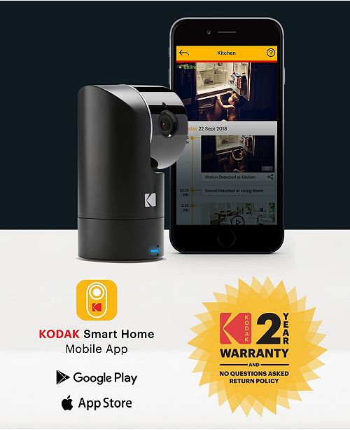 Cherish F685 Home Security Camera With Mobile App - Full-Hd Wireless  Security Camera System With Infrared Night-Vision, Battery, Tilt, Pan, Zoom  &