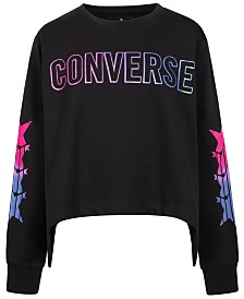 Converse Big Girls High-Low Hem Sweatshirt
