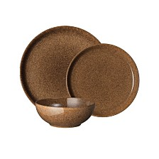 Denby Studio Craft Chestnut 12 Piece Dinnerware Set, Service for 4