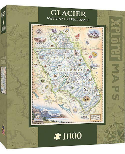 MasterPieces Puzzle Company Masterpieces Glacier 1000 Piece Xplorer Map Puzzle