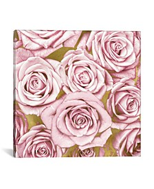 Pink Roses On Gold by Kate Bennett Wrapped Canvas Print Collection