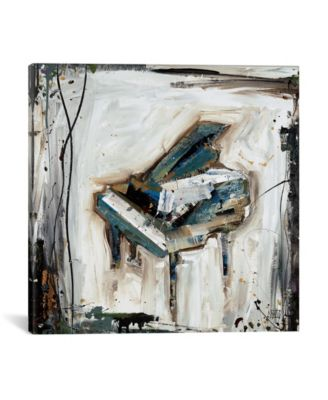 """Imprint Piano by Kelsey Hochstatter Wrapped Canvas Print - 18"""" x 18"""""""