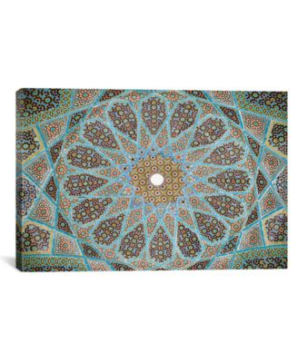 Tomb Of Hafez Mosaic by Unknown Artist Wrapped Canvas Print - 18