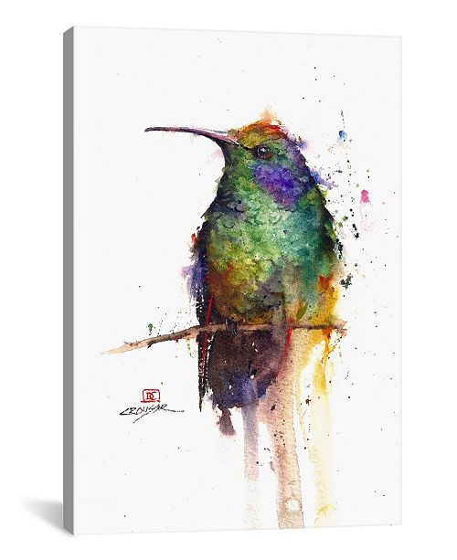 "iCanvas Green Bird by Dean Crouser Wrapped Canvas Print - 26"" x 18"""