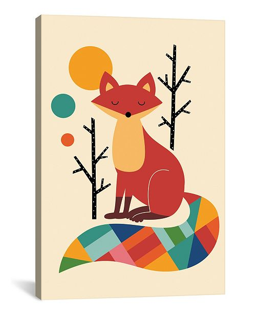 """iCanvas Rainbow Fox by Andy Westface Wrapped Canvas Print - 26"""" x 18"""""""