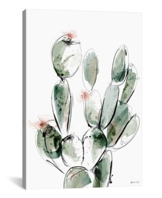 Prickly Pear by Green Lili Wrapped Canvas Print - 26