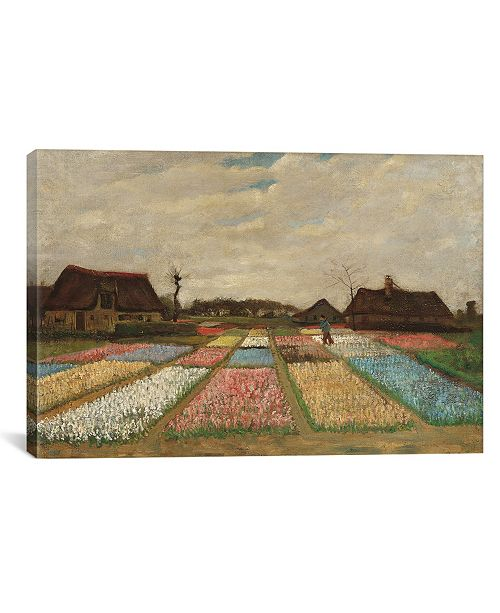 "iCanvas Tulpenfelder Tulip Fields by Vincent Van Gogh Wrapped Canvas Print - 40"" x 60"""