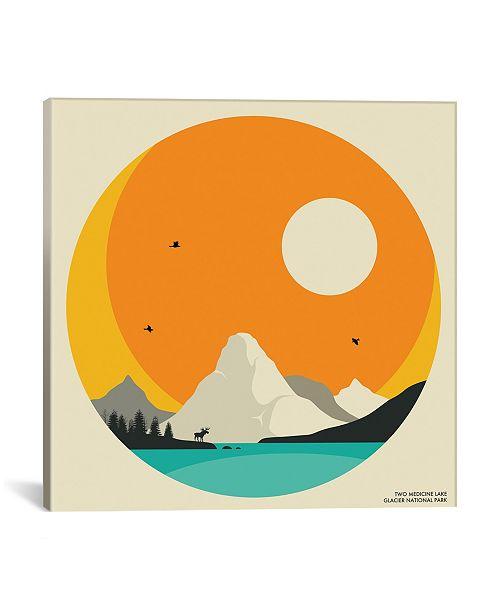 "iCanvas Glacier National Park by Jazzberry Blue Wrapped Canvas Print - 18"" x 18"""