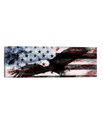 "Bald American Eagleus Flag C by iCanvas Wrapped Canvas Print - 16"" x 48"""