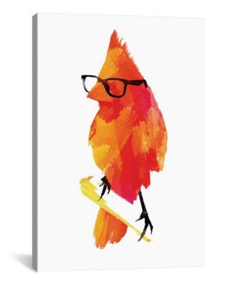 "Punk Bird by Robert Farkas Wrapped Canvas Print - 60"" x 40"""