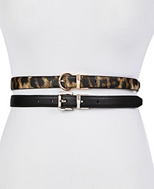 2-For-1 Reversible Skinny Belts