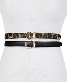 Steve Madden 2-For-1 Reversible Skinny Belts
