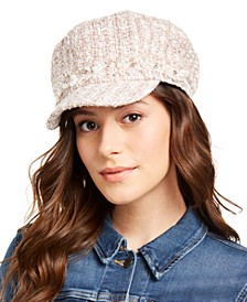 INC Bouclé Embellished Cabbie Hat, Created for Macy's
