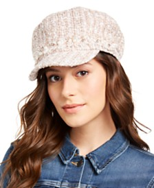 I.N.C. Bouclé Embellished Cabbie Hat, Created for Macy's