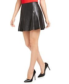 Faux-Leather Skater Skirt