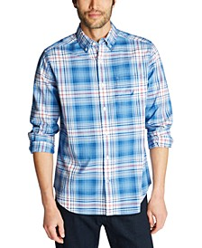 Men's Classic-Fit Blue Sail Plaid Shirt, Created for Macy's