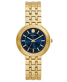 Tory Burch Women's Bailey Gold-Tone Stainless Steel Bracelet Watch 34mm