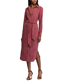 Lauren Ralph Lauren Abstract-Print Crepe Shirtdress