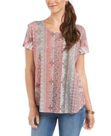 Style & Co Printed Top, Created for Macy's